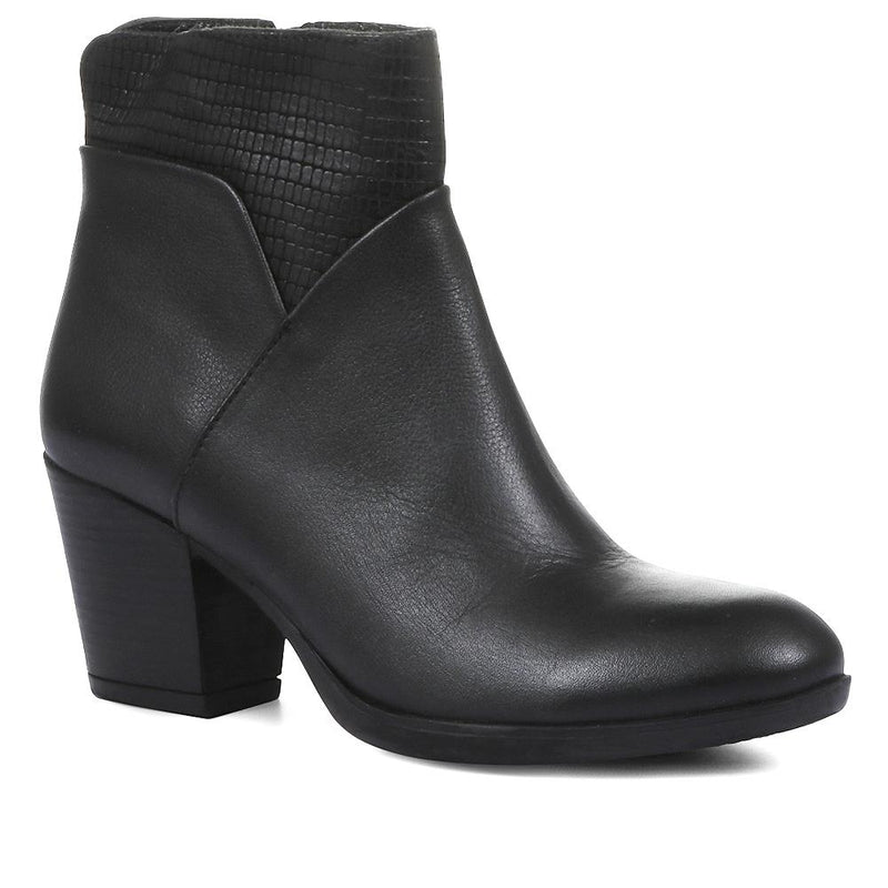 Block Heel Ankle Boot - MKOC28504 / 313 970