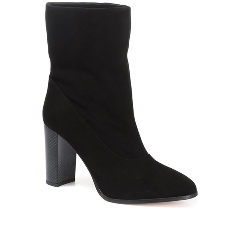 Sappho Shore Block Heel Leather Ankle Boot - KARMI31518 / 318 152