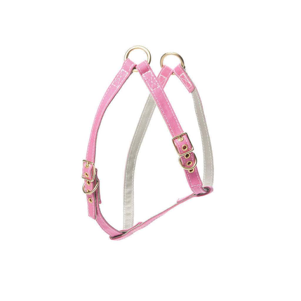 Canvas Harness Pink/Light Grey