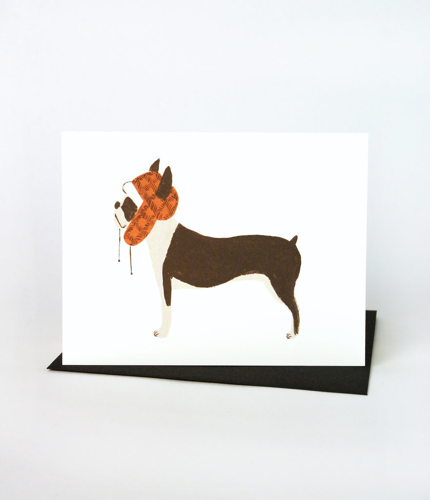 Dog - Boston Terrier Card