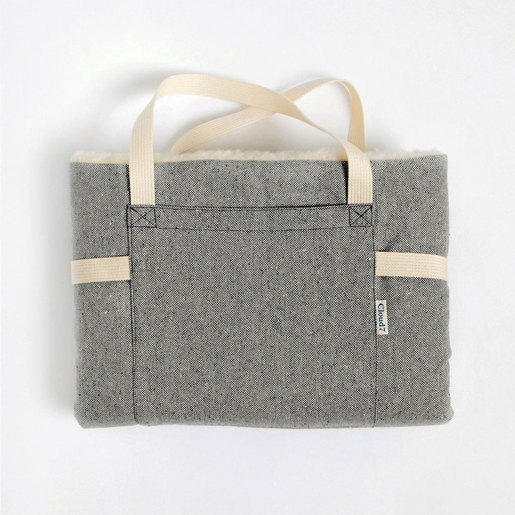 Travel Bed in Grey Tweed from Cloud 7