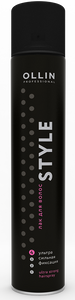 OLLIN STYLE Ultra Strong hair spray (no aroma) 400ml