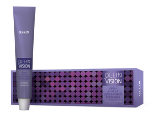 OLLIN VISION Cream Color antakiams ir blakstienoms - juodas 20ml