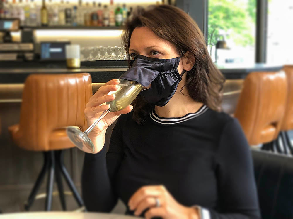 drinking face mask, eat and drink mask, sip straw mask