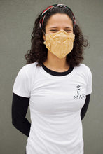 Load image into Gallery viewer, Mini Bandana Face Mask in Manchester Yellow