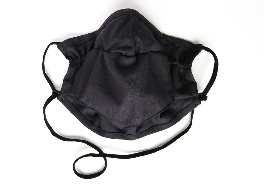 Mini Bandana Face Mask in Black