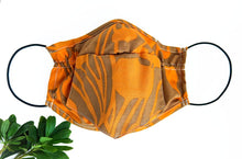 Load image into Gallery viewer, Mini Bandana Face Mask in Forest Fiddleheads Orange