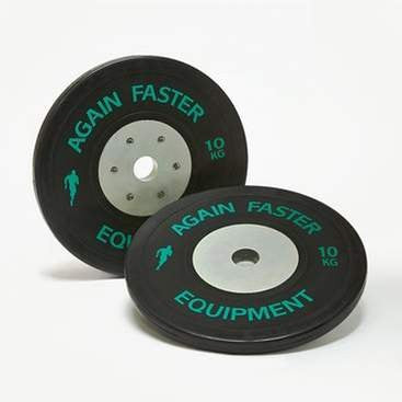 Again Faster Competition Bumper Plates - 10kg Pair - Fitshop