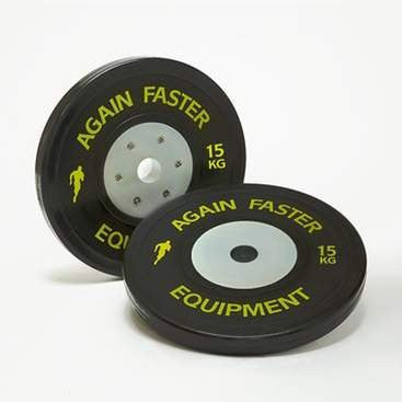 Again Faster Competition Bumper Plates - 15kg Pair - Fitshop