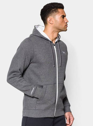 Under Armour Men's Storm Rival Full Zip Hoodie - Grey - Fitshop - 2