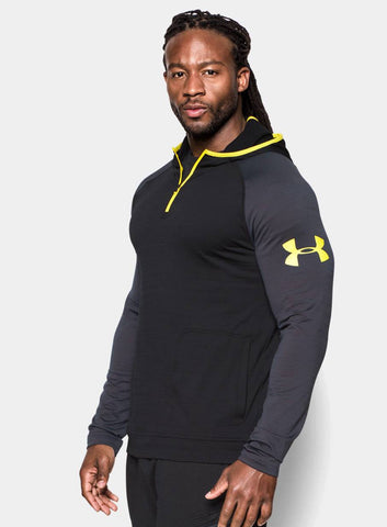 Under Armour Men's Combine® Training Slub Fleece ¼ Zip Hoodie - Black - Fitshop - 2