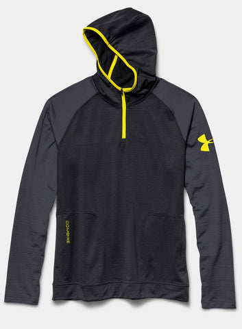 Under Armour Men's Combine® Training Slub Fleece ¼ Zip Hoodie - Black - Fitshop - 4