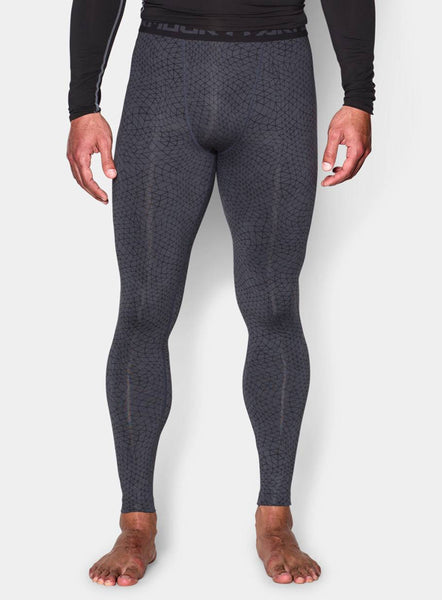 Under Armour Men's HeatGear® Armour Printed Compression Leggings - Stealth Grey - Fitshop - 1