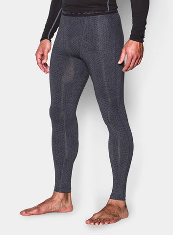 Under Armour Men's HeatGear® Armour Printed Compression Leggings - Stealth Grey - Fitshop - 2