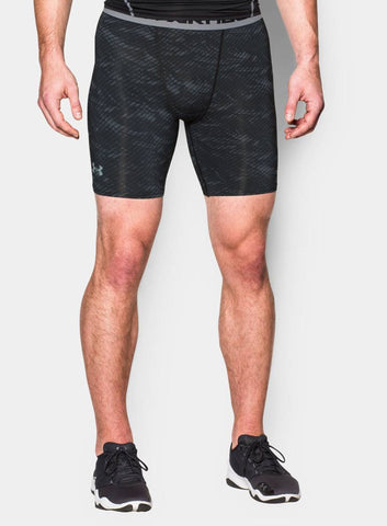 Under Armour HeatGear® Armour Printed Compression Shorts - Black - Fitshop - 1