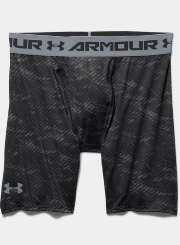 Under Armour HeatGear® Armour Printed Compression Shorts - Black - Fitshop - 4