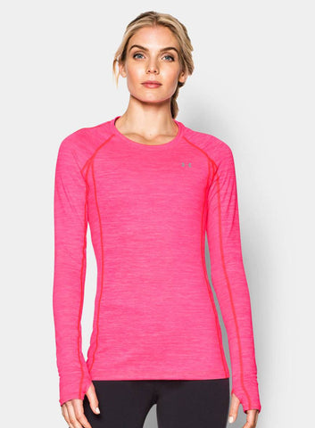 Under Armour Women's ColdGear® Cozy Crew - Pink - Fitshop - 1