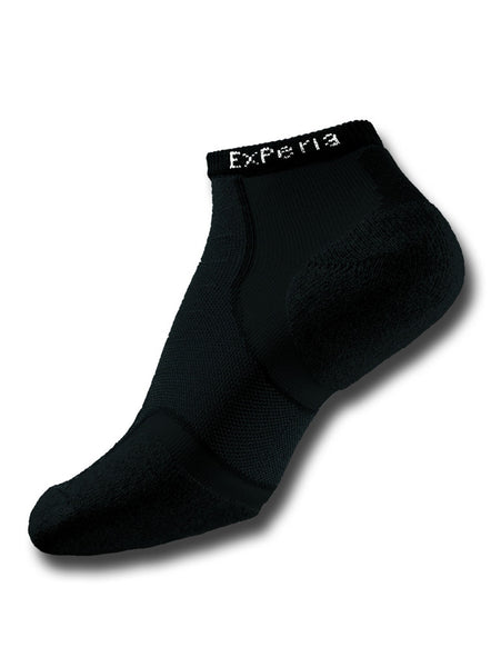 Thorlo XPERIA® Multi-activity Socks Unisex Micro Mini-Crew - Black - Fitshop - 1