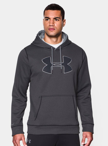 Under Armour Men's Storm Armour Fleece Big Logo Hoodie - Carbon - Fitshop - 1