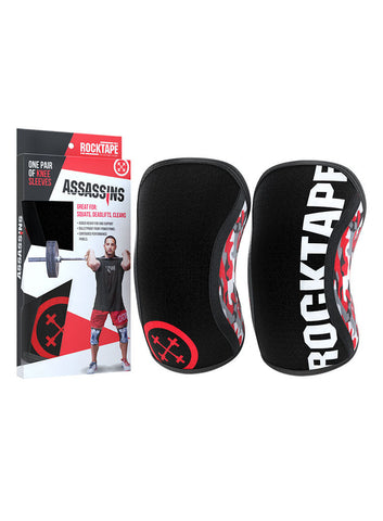 Rocktape Competition Grade Assassins Knee Sleeves Red Camo - 5mm