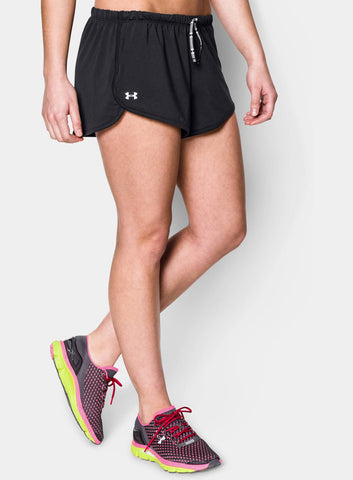 Under Armour Women's Alpha Mesh Relaxed Short - Black - Fitshop - 1