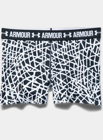 "Under Armour HeatGear® Armour - Printed 3"" Women's Shorts - Black - Fitshop - 4"