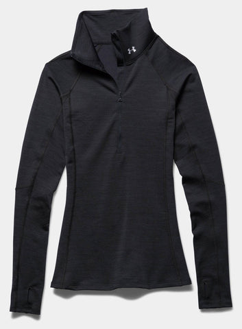 Under Armour ColdGear® Cozy ½ Zip - Black - Fitshop - 3