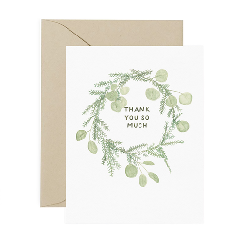 Thank You Wreath Greeting Card - Front & Company: Gift Store