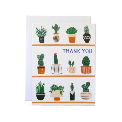 Plant Shelfie Thank You Card - Front & Company: Gift Store