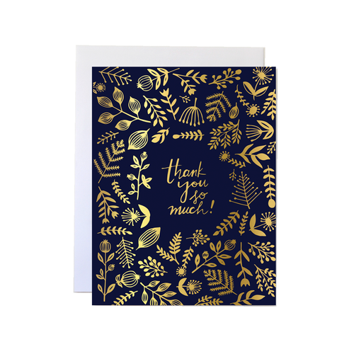 Gold Foil Thank You Card - Front & Company: Gift Store