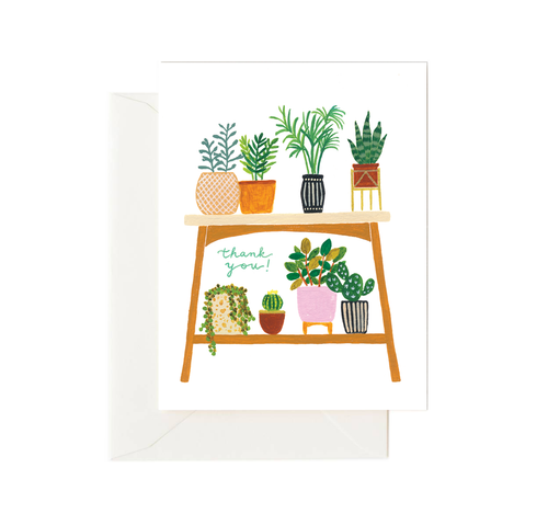 Houseplants Thank You Card - Front & Company: Gift Store
