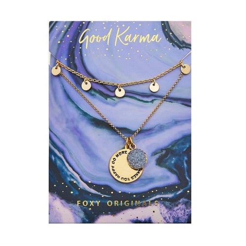 Good Karma Happy Necklace - Front & Company: Gift Store