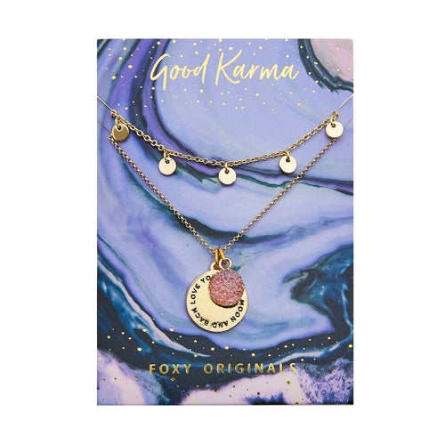 Good Karma Moon Necklace - Front & Company: Gift Store