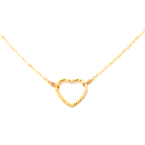 Small Shimmer Heart Necklace
