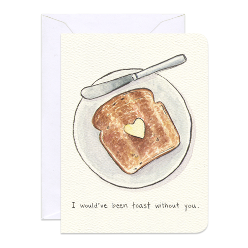 Thankful Toast Mini Card - Front & Company: Gift Store