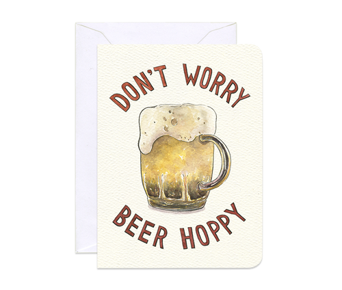 Beer Hoppy Mini Card - Front & Company: Gift Store