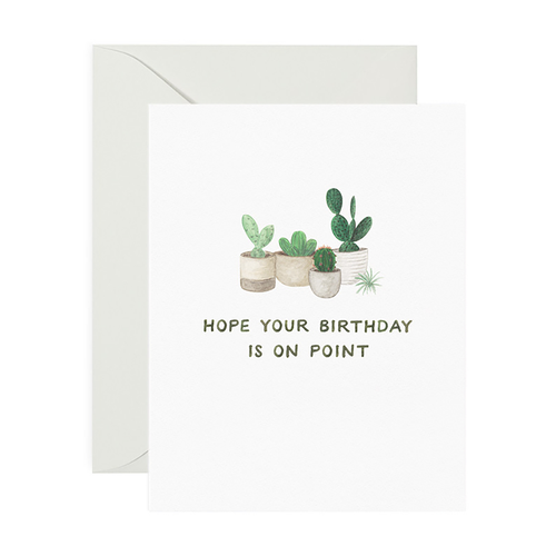On Point Birthday Greeting Card - Front & Company: Gift Store
