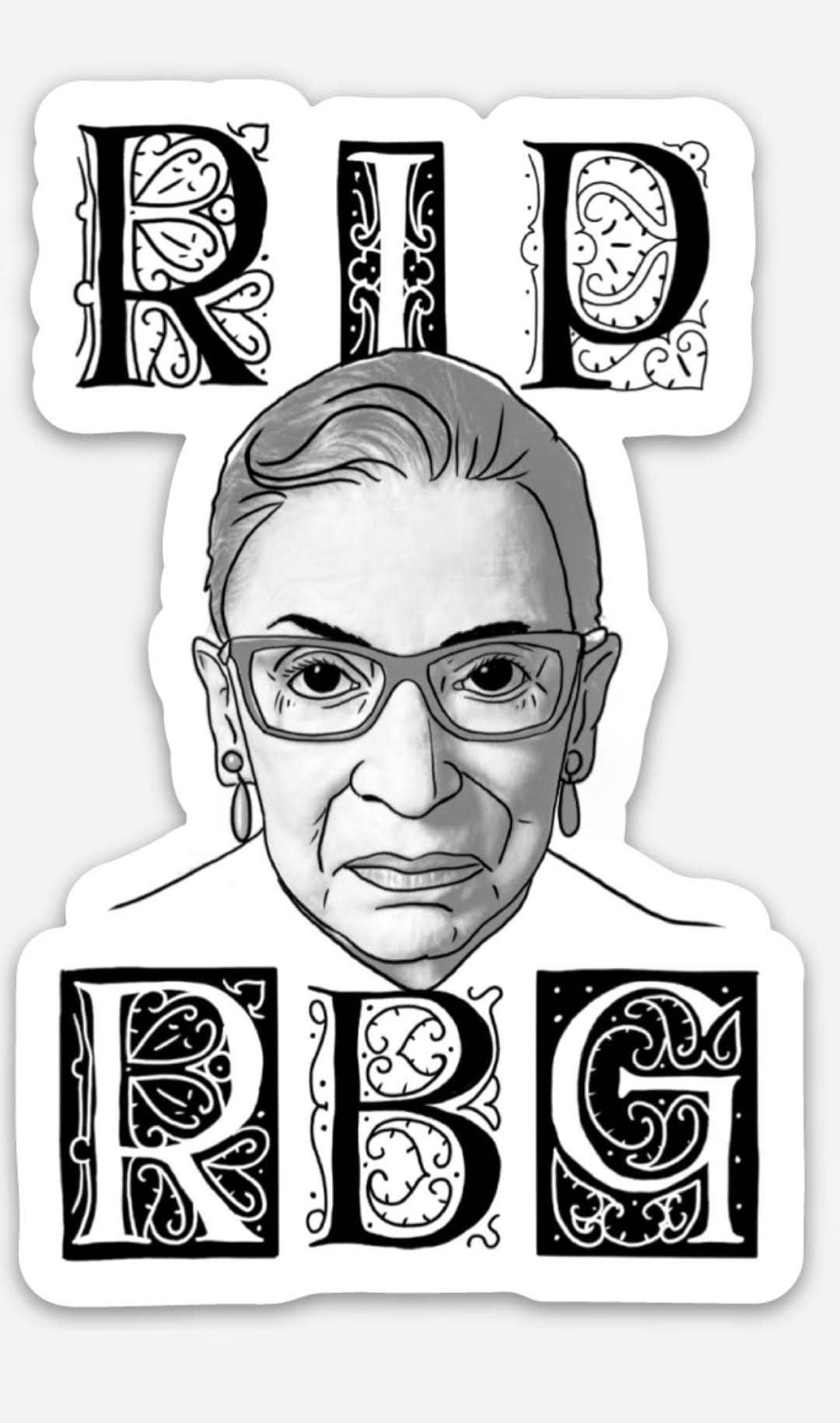Historical Figures Collection- RIP RBG Sticker