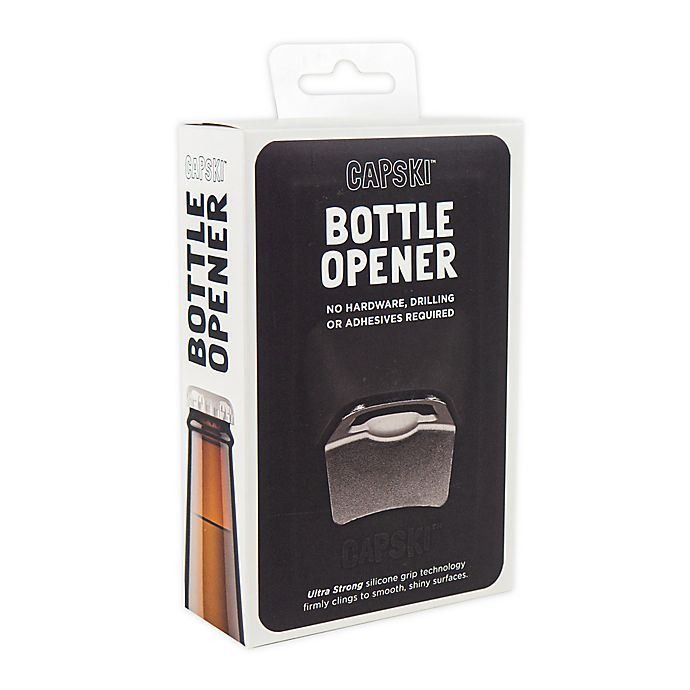 Capski Wall Mount Bottle Opener - Black