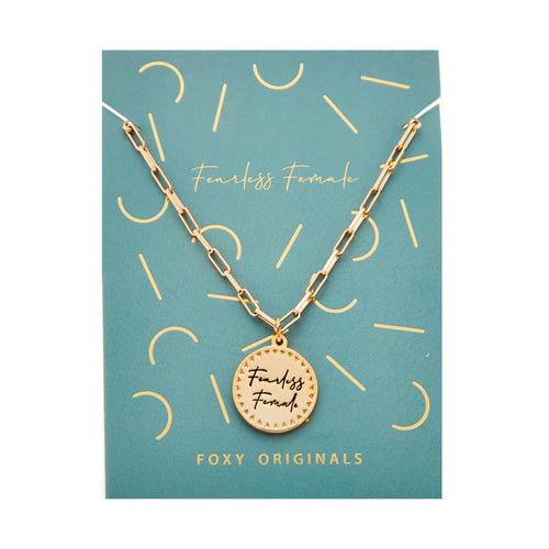 Actually I Can - Fearless Female Necklace - Front & Company: Gift Store