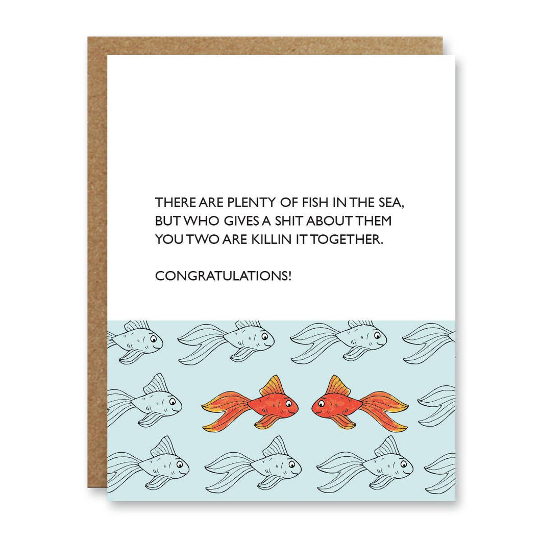 Plenty of Fish Greeting Card - Front and Company: Gifts