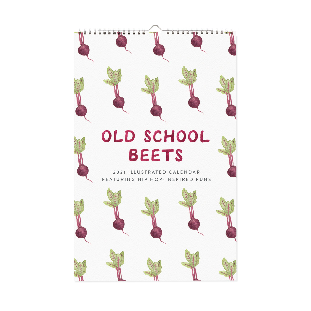 Old School Beets 2021 Wall Calendar