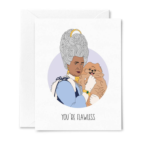 Bridgerton Queen Charlotte You're Flawless Card - Front & Company: Gift Store