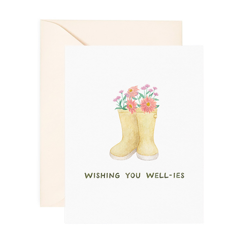 Wishing You Well-ies Support Greeting Card - Front & Company: Gift Store
