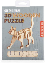 Load image into Gallery viewer, Cat 3D Wooden Puzzle