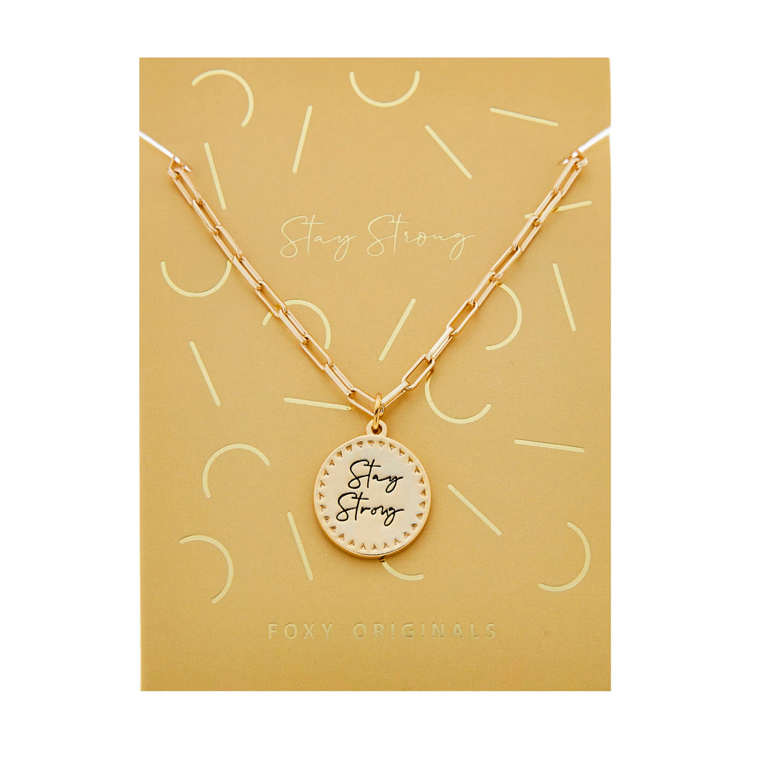 Actually I Can - Stay Strong Necklace