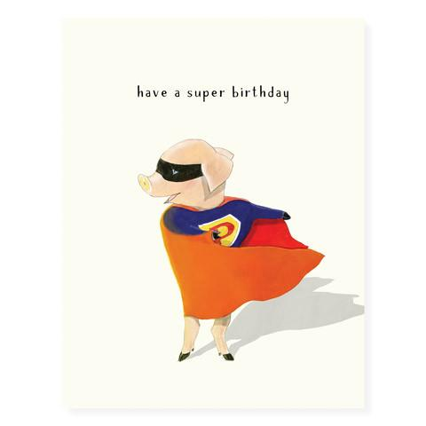 Superpig Birthday Card - Front & Company: Gift Store
