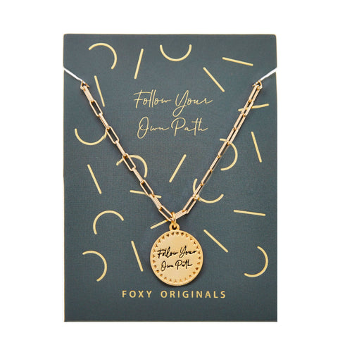 Actually I Can - Follow Your Own Path Necklace - Front & Company: Gift Store