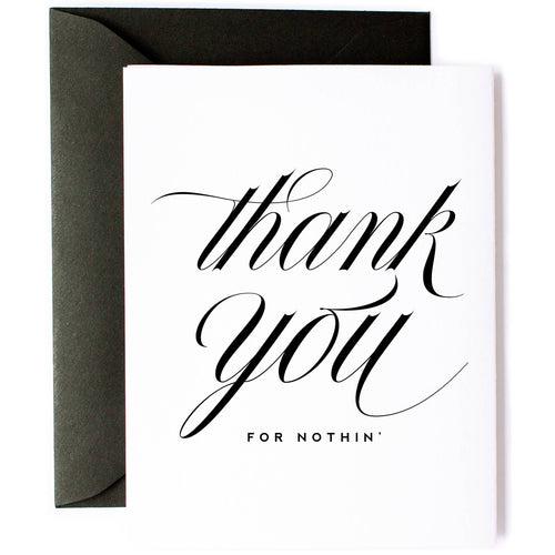 Thanks For Nothing Friendship Card - Front & Company: Gift Store