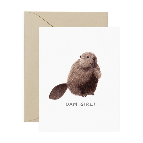 Dam Girl Greeting Card - Front & Company: Gift Store